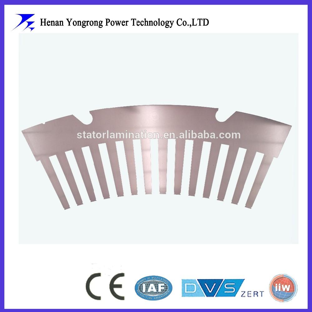 Motor generator steel laminations segmented shape