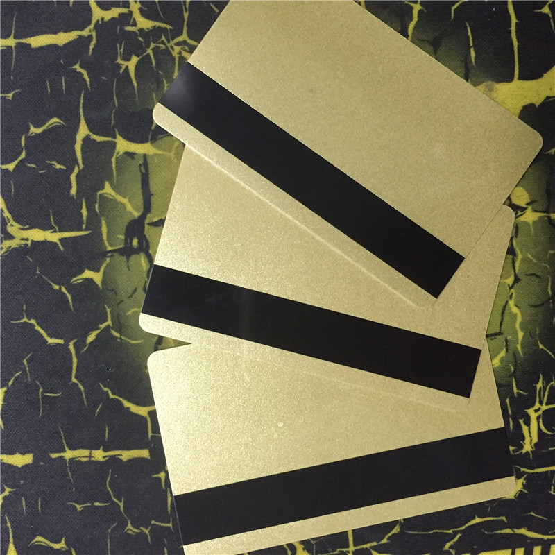 CR80 standard PVC blank gold card with 3 track Magstripe Card