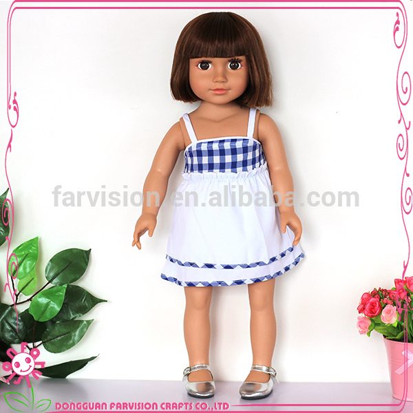 Economic pink face model doll toys with big eyes
