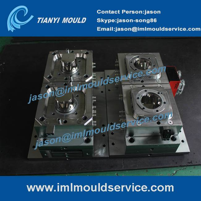 PP thin wall plastic containers with lids mould,two cavites thin walled plastic cup injection mould