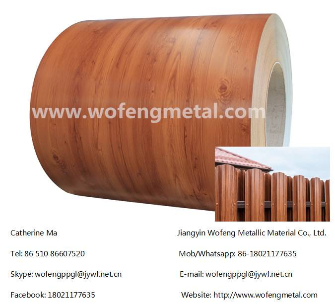 Wood Grain Finish Galvanized Steel Coil For Fence Panel