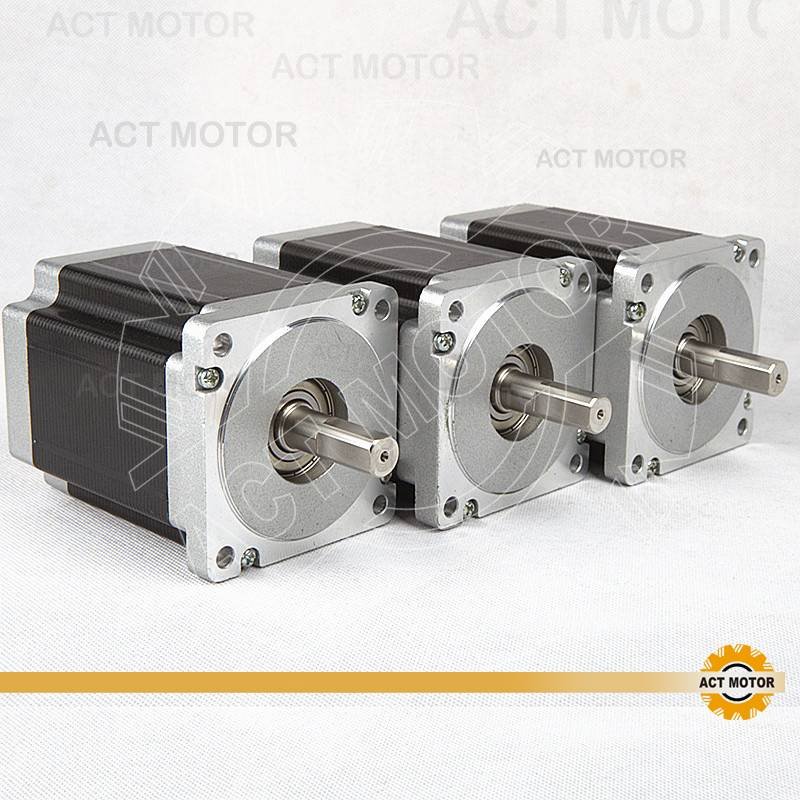 3PCS ACT Nema34 Stepper Motor 34HS1456