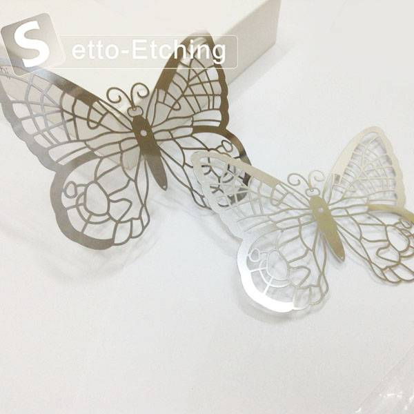 Custom 0.3mm etching metal craft decorations for home