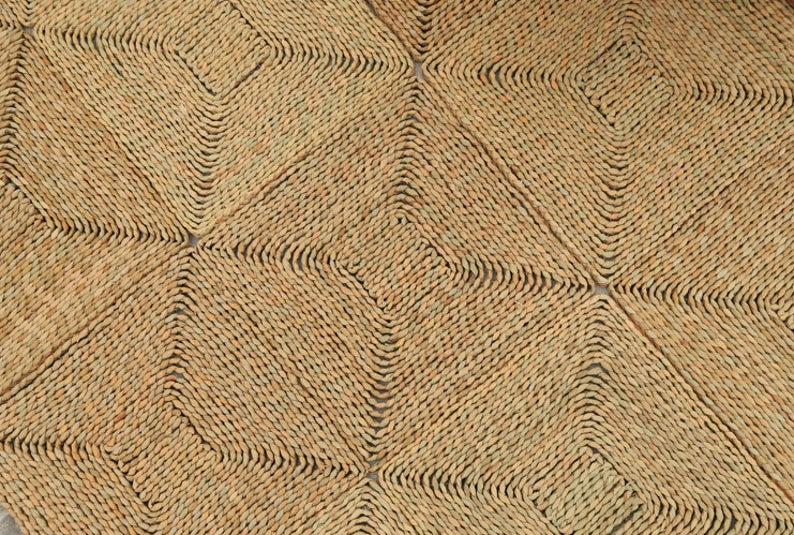 Hot Sale Handwoven Carpet Seagrass Decorative Carpets Rugs for Floor Decor Indoor Usage