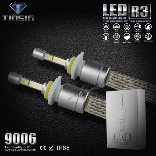 New arrival Tinsin waterproof IP68 H1 H3 H7 H8 H8 H11 9005 9006 40W 4800lm auto led headlight