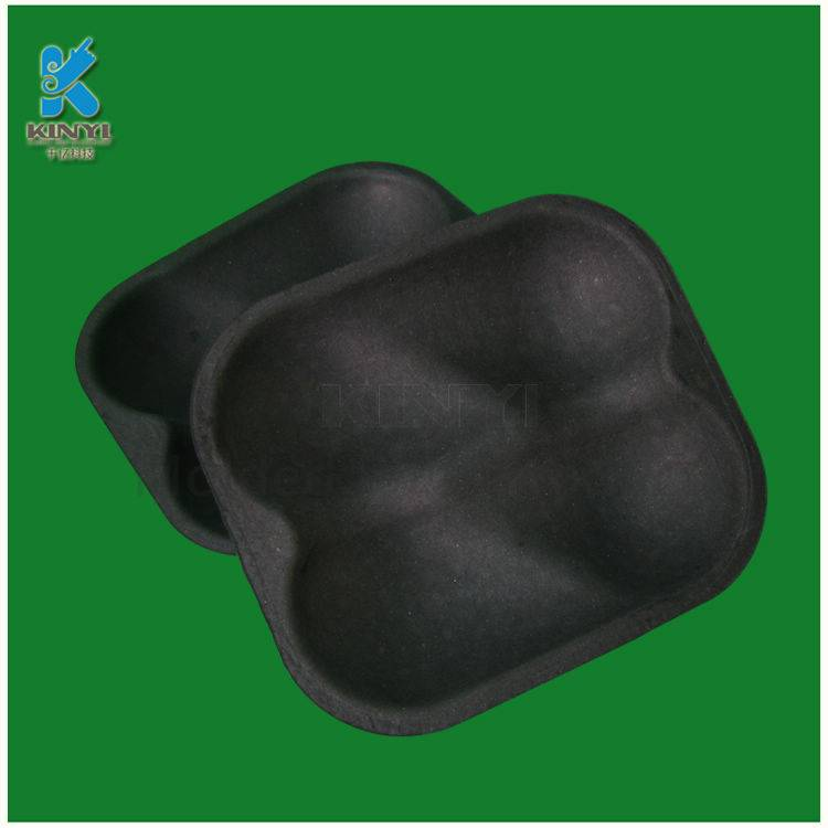 Customized bagasse paper mache red dragon fruit packing tray