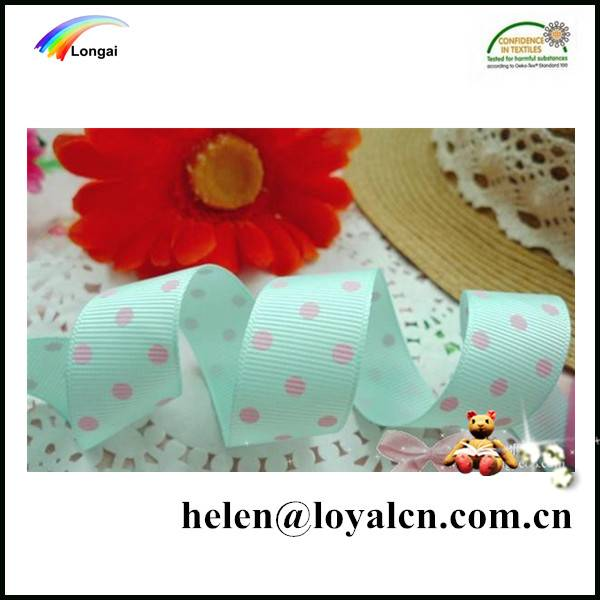 customized wholesale packaging ribbon with dots