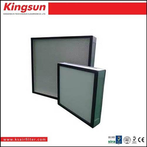vacuum frame high efficiency mini pleated hepa filter h13