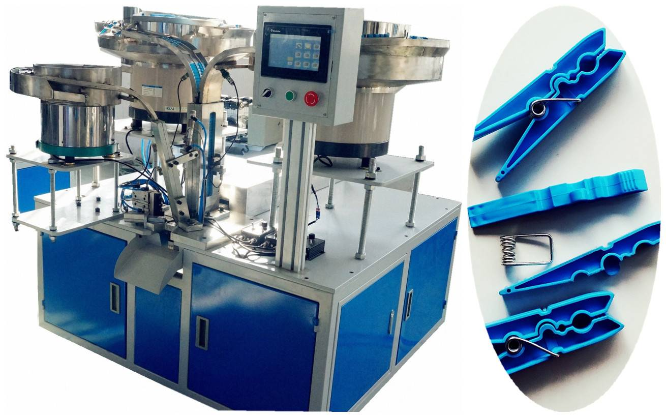 clothespin assembly machine/cloth clip assembly machine