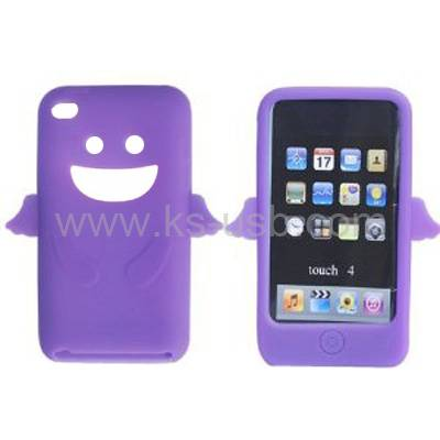 Angel Silicone Skin Case Cover for iPod Touch 4