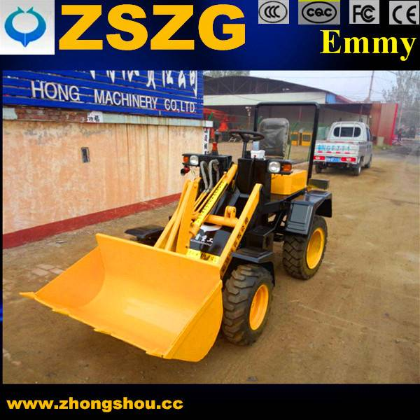 Mini electric wheel loader with hydraulic operation and simple structure battery loader