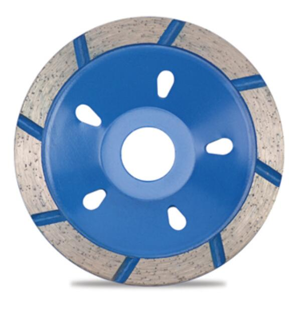 pressed wide segmented cup wheel