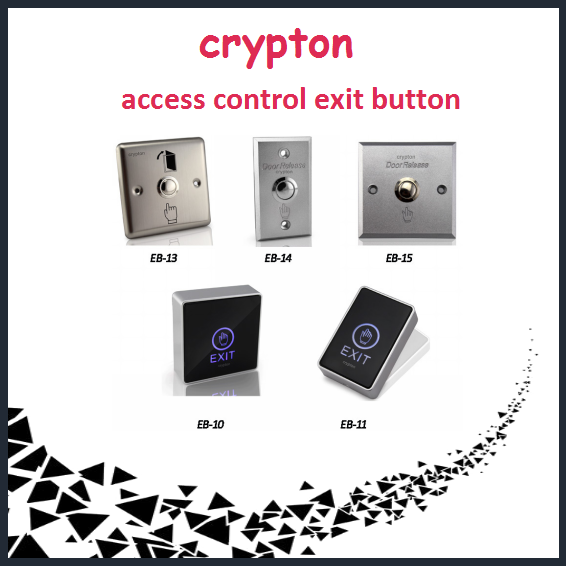 Touch screen exit button for access control system