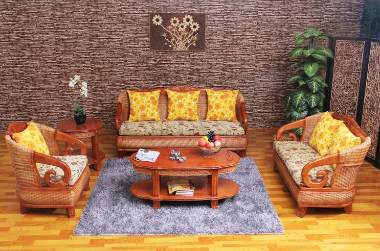 Modern Classic Wicker Rattan Living Room Furniture Sets