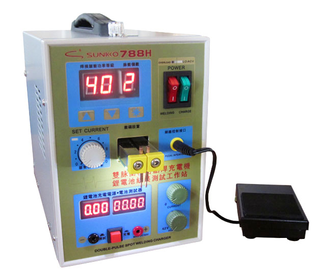 SUNKKO 788H Battery Spot Welder & Battery Charger for 18650