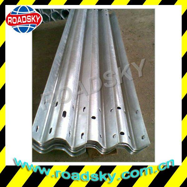 Road Safety Hot Dip Galvanized Metal Beam Crash Barrier