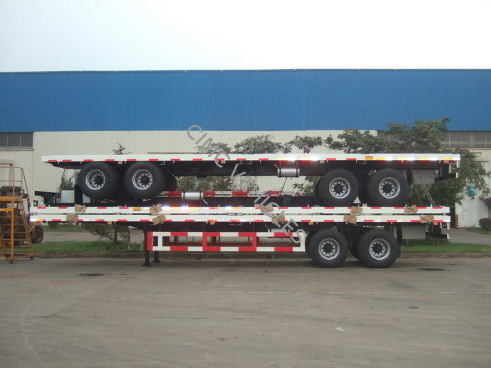 Flat Bed Semi-Trailer bogie suspension for Bad Road Condition