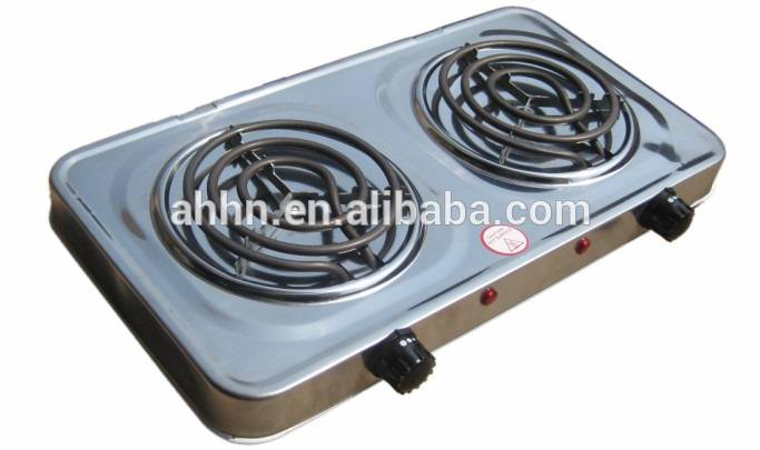 Electric Hot Plate\two bunrers electric hot plate/square hot plate