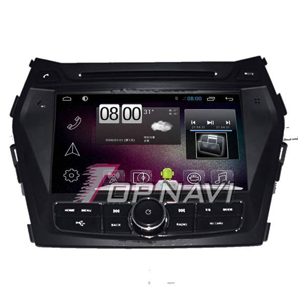 800*480 8inch Android 4.4 Car GPS Player Video For Hyundai IX45 Navigation Ipod