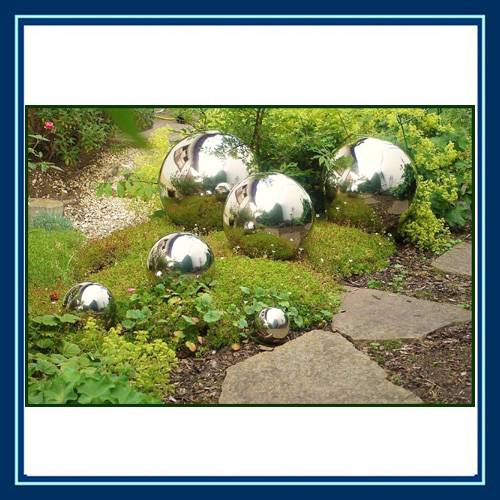 stainless steel garden decoration balls