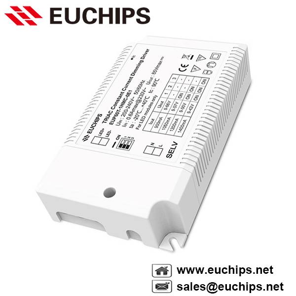 900/1050/1200/1400mA 60W 1 channel Triac constant current dimmable led driver EUP60T-1HMC-0E1