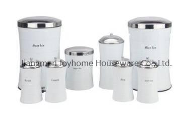 home storage bin set dust bin rice bin canister set