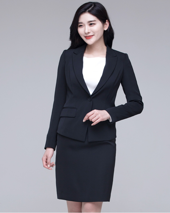 Simple Formal Style Business Suits for Women Jacket Skirt