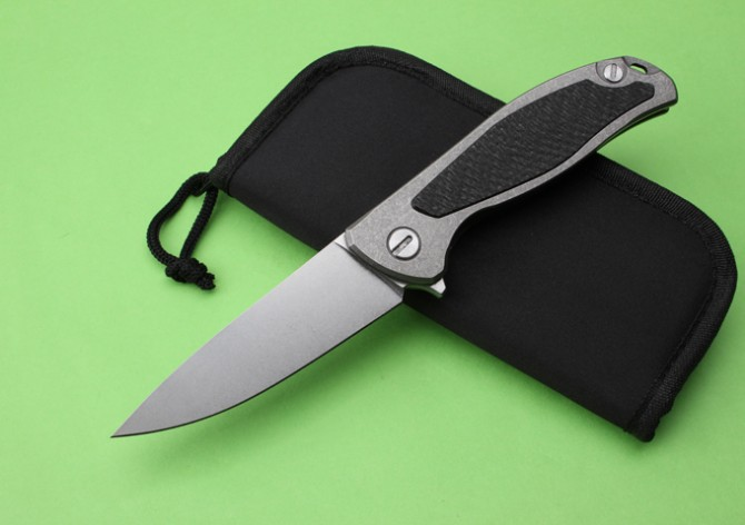 Quality D2 Folding Knife Pocket Knife Quality Knife titanium metal Handle