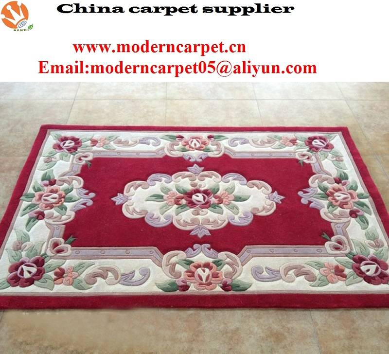hand tufted Chinese abusson design wool carpet rugs