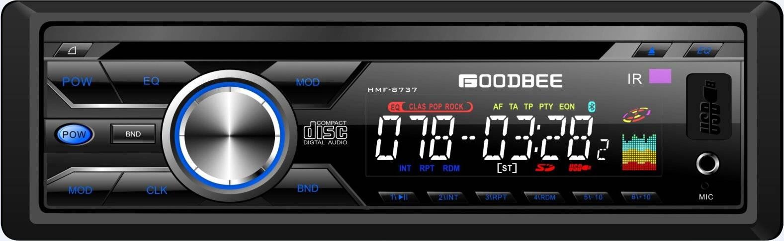 Detachable Panel Car DVD,MP4 Player HMF-8837