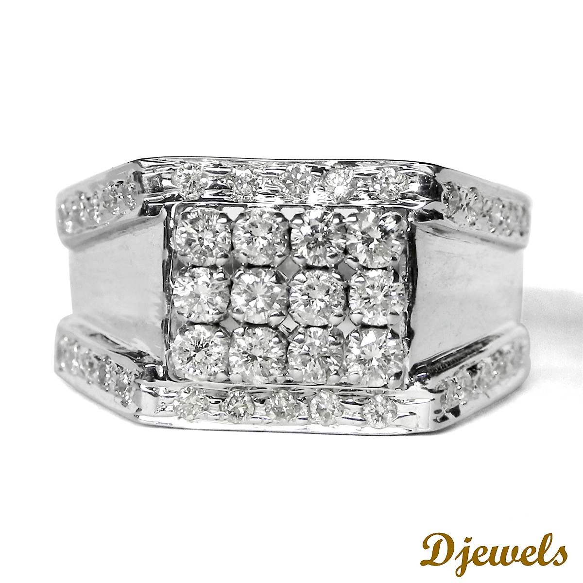 Diamond Gents Ring 14k
