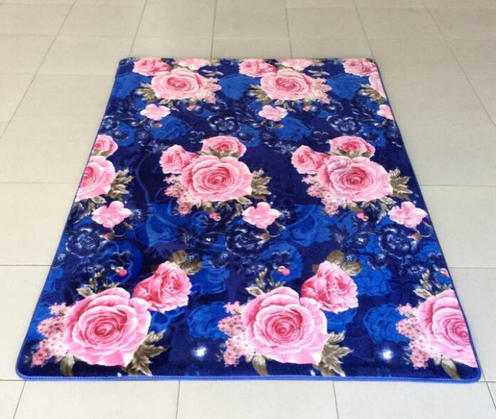 Chinese flannel fabric carpet manufacture