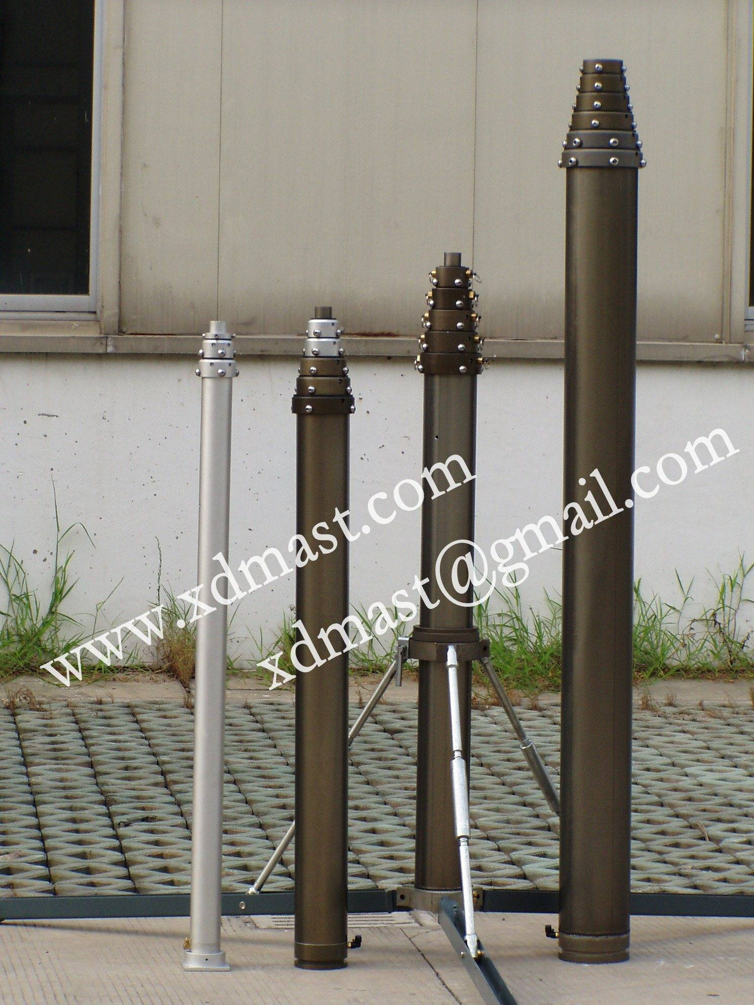 Vehicle Mounted Pneumatic Telescopic Antenna Masts