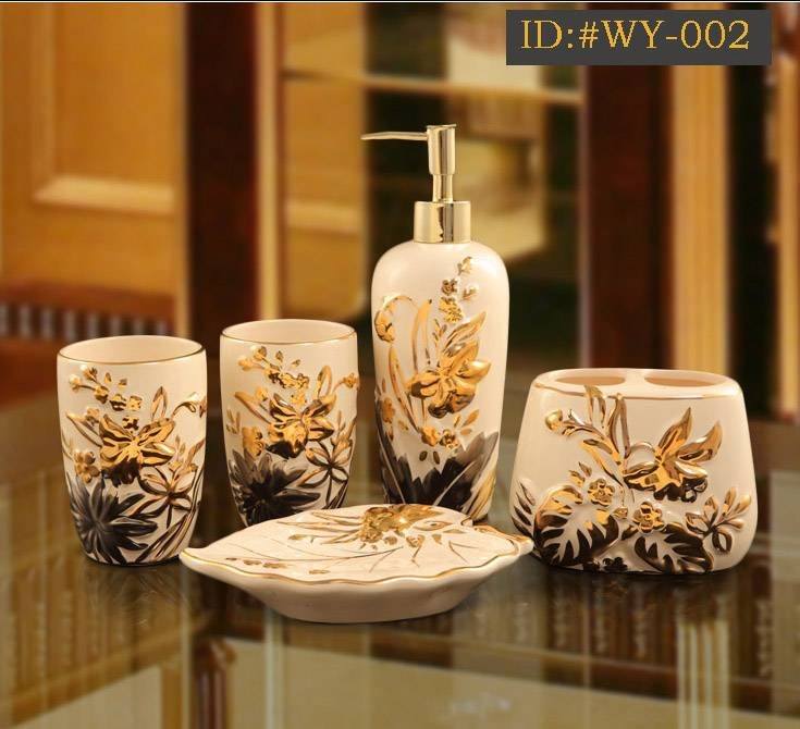 L-D high-end luxurious ceramic bathroom accessories(Housewarming gift) ID:#WY-002