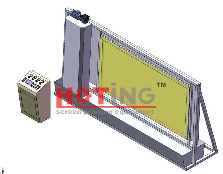 Semi automatic screen developing machine
