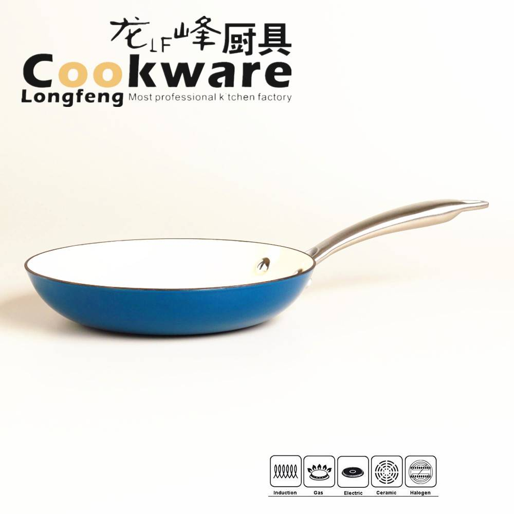 Light Weight Cast Iron Fry Pan With Stainless Steel Handle