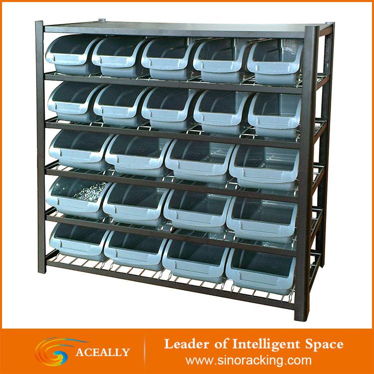 Multi-lay warehouse bin rack