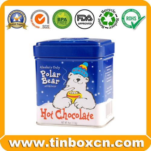 Chocolate tin box,gift tin packaging,square tin can,tin boxes