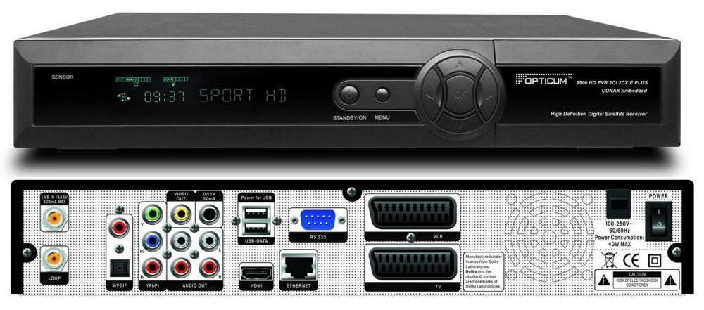 Opticum 9500HD(Orton9500HD,Globo9500HD) receiver