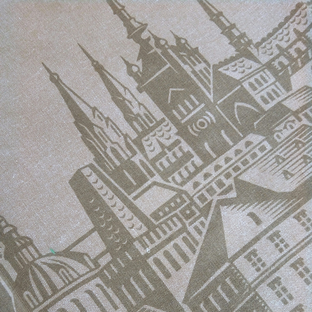 cutomized printed cotton and linen tea towel