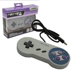 SNES - Controller - Wired - PC USB Compatible - Classic Style