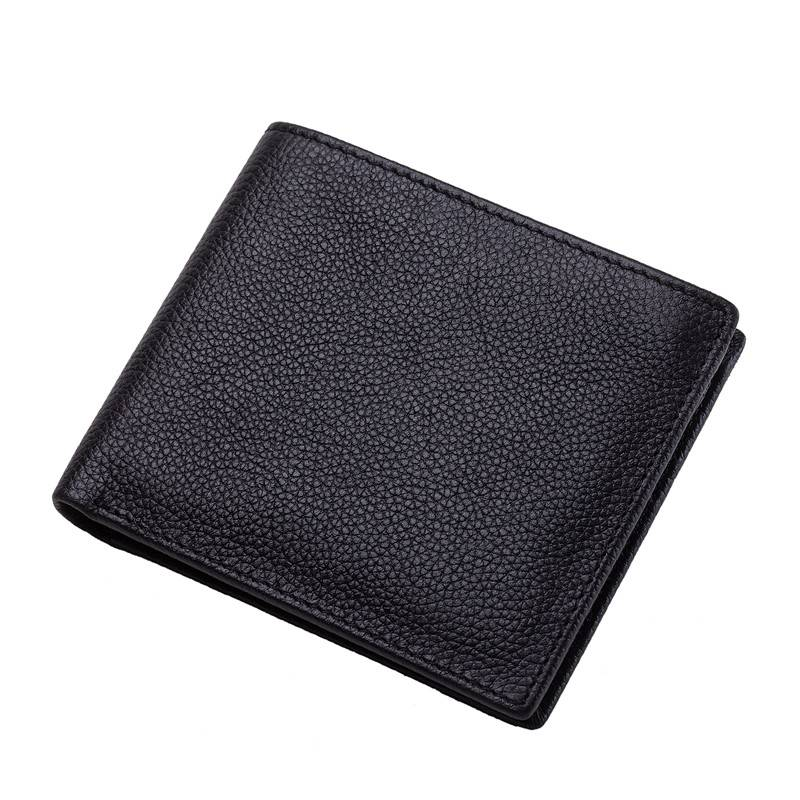 Soft Leather Business Credit Card Case Large Capacity RFID Men Wallets with Flip Cover