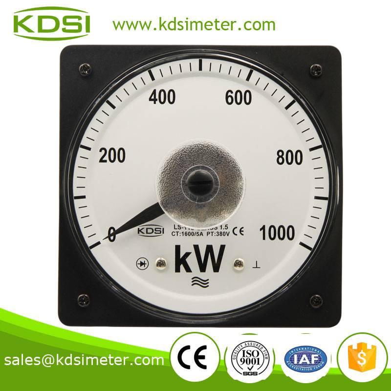Square type Marine meter LS-110 1000KW 1600/5A 380V  analog wattmeter
