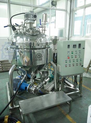 Hydraulic Lift Vacuum Emulsifying Mixer for Mayonnaise With Steam Heater or Electric Heater