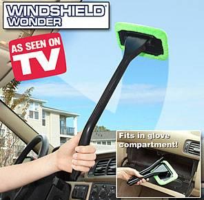 Windshield Clean Fast Easy Shine Car Auto Wiper Cleaner Glass Window Brush Handy Windshield wonder