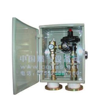 Natural gas regulator box
