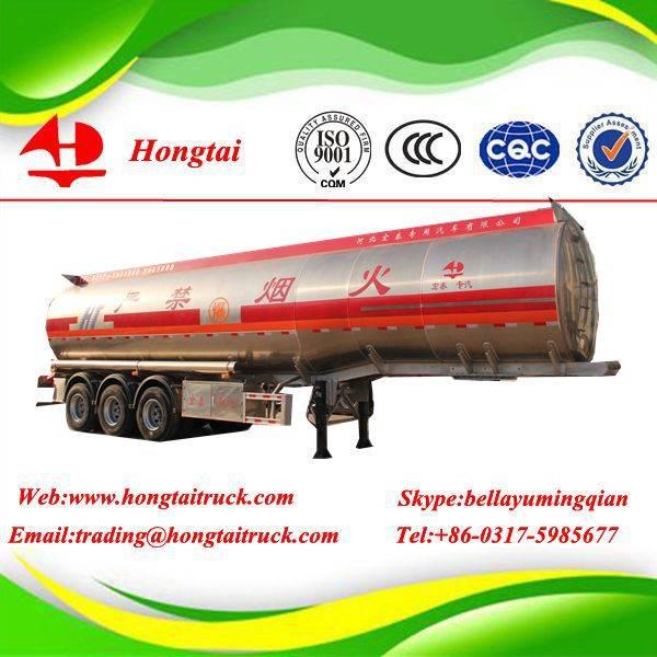 3 axle 50000 litres aluminum alloy fuel tanker semi trailer