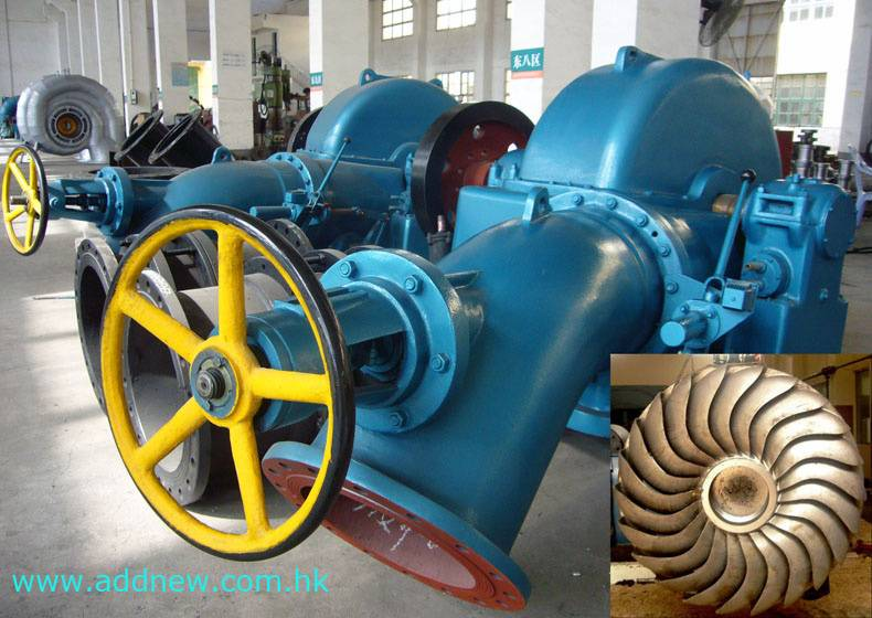 Inclined jet turbine