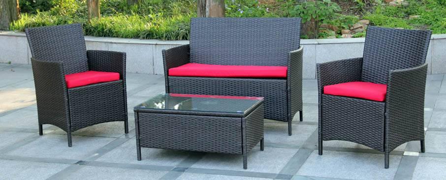 KD Style Wikcer Sofa Set