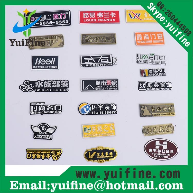 aluminum nameplate costomized logo metal label with adhensive embossed tag name plate